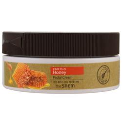 Крем для лица питательный медовый Care Plus Honey Facial Crea The Saem