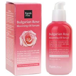 Сыворотка для лица с экстрактом болгарской розы Bulgarian Rose Blooming Oil Serum FarmStay