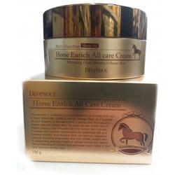 Питательный крем для лица с лошадиным жиром Horse Enrich All Care Cream Deoproce