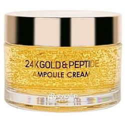 Ампульный крем для лица с золотом и пептидами 24K Gold & Peptide Ampoule Cream Eyenlip