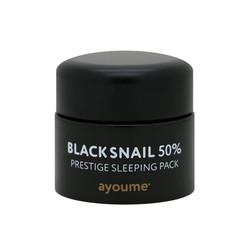 Ночная маска для лица с муцином черной улитки Black Snail Prestige Sleeping Pack Ayoume