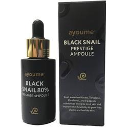 Концентрированная сыворотка для лица с муцином черной улитки Black Snail Prestige Ampoule Ayoume