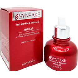Антивозрастная ампульная сыворотка для лица с пептидами змеиного яда Syn-Ake Anti Wrinkle Whitening Ampoule Secret Key