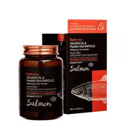 Многофункциональная ампульная сыворотка с маслом лосося и пептидами All-In-One FarmStay
