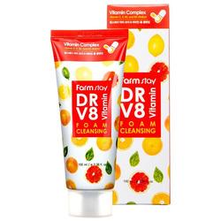 Витаминная пенка для очищения кожи лица DR V8 Vitamin Foam Cleansing FarmStay