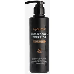 Восстанавливающая маска для волос с муцином улитки Black Snail Prestige Treatment Ayoume