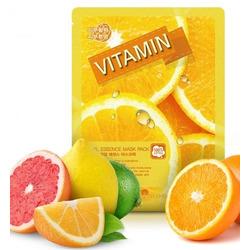 Тканевая маска для лица с витаминами Real Essence Mask Pack Vitamin May Island