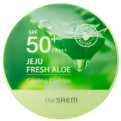 Кушон охлаждающий солнцезащитный Jeju Fresh Aloe Cooling Cushion Natural Baige SPF 50 The Saem