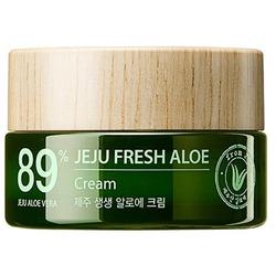 Увлажняющий успокаивающий крем для лица с алоэ Jeju Fresh Aloe Cream The Saem