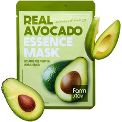 Маска для лица тканевая с экстрактом авокадо Real Avocado Essence Mask FarmStay