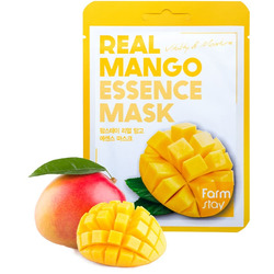 Маска для лица тканевая с экстрактом манго Real Mango Essence Mask FarmStay