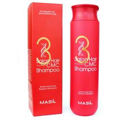 Восстанавливающий шампунь с кератином и аминокислотами 3 Salon Hair CMC Shampoo Masil