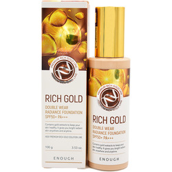 Тональная основа с золотом для сияния кожи Rich Gold Double Wear Radiance Foundation SPF 50 Enough