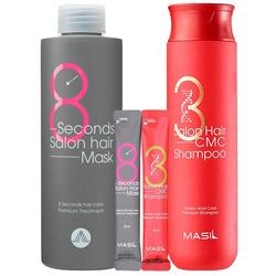 Набор для восстановления волос с кератином и коллагеном 38 Salon Hair Set Masil