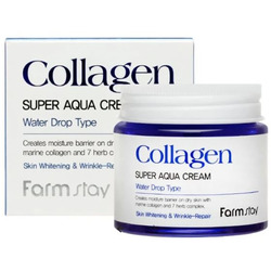 Суперувлажняющий крем для лица с морским коллагеном Collagen Super Aqua Cream FarmStay