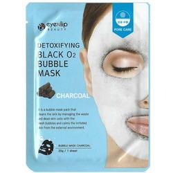 Кислородная маска с древесным углем Detoxifying Black O2 Bubble Mask Charcoal Eyenlip