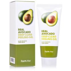 Отшелушивающий пилинг гель с экстрактом авокадо Real Avocado Deep Clear Peeling Gel FarmStay