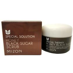 Скраб для лица с черным сахаром Honey Black Sugar Scrub Mizon
