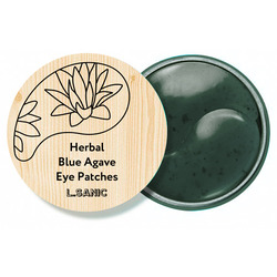 Гидрогелевые патчи с экстрактом голубой агавы Herbal Blue Agave Hydrogel Eye Patches L'Sanic
