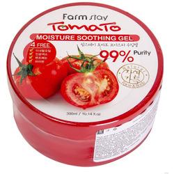 Увлажняющий успокаивающий гель для лица и тела с экстрактом томатов Tomato Moisture Soothing Gel FarmStay