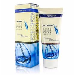 Очищающая пенка для умывания с коллагеном Collagen Pure Cleansing Foam FarmStay