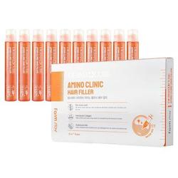 Интенсивный филлер для волос с аминокислотами DERMA СUBE Amino Clinic Hair Filler FarmStay