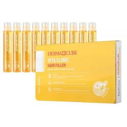 Витаминизирующий филлер для волос с витаминами DERMA СUBE Vita Clinic Hair Filler FarmStay