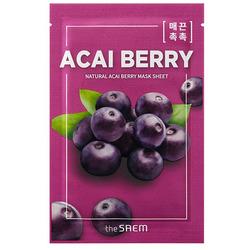 Тканевая маска с экстрактом ягод асаи Natural Acai Berry Mask Sheet The Saem