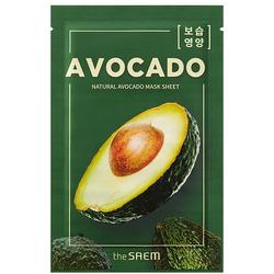 Тканевая маска с экстрактом авокадо Natural Avocado Mask Sheet The Saem