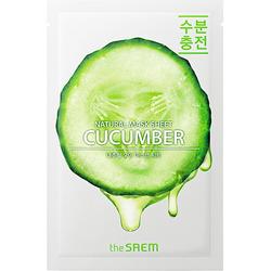 Тканевая маска для лица с экстрактом огурца Natural Cucumber Mask Sheet The Saem
