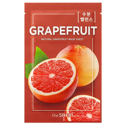 Тканевая маска с экстрактом грейпфрута Natural Skin Fit Mask Sheet Grapefruit The Saem