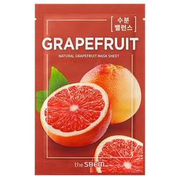 Тканевая маска с экстрактом грейпфрута Natural Skin Fit Mask Sheet Grapefruit The Saem