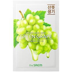 Тканевая маска с экстрактом винограда Natural Green Grape Mask Sheet The Saem