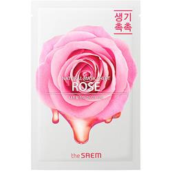 Тканевая маска для лица с экстрактом розы Natural Rose Mask Sheet The Saem