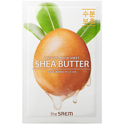 Тканевая маска для лица с экстрактом масла Ши Natural Shea Butter Mask Sheet The Saem