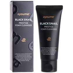 Очищающая пенка с муцином черной улитки Black Snail Prestige Foam Cleanser Ayoume