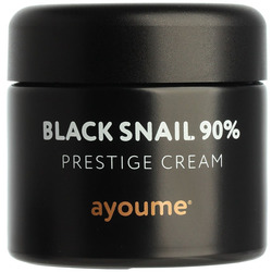 Крем для лица c муцином черной улитки Black Snail Prestige Cream Ayoume