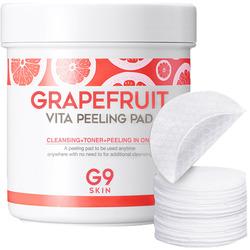 Ватные диски для пилинга лица с экстрактом грейпфрута Grapefruit Vita Peeling Pad G9SKIN