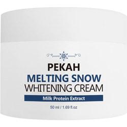 Осветляющий крем для лица с молочными протеинами Melting Snow Whitening Cream Pekah