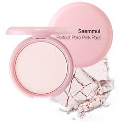 Пудра розовая с каламином для проблемной кожи Saemmul Perfect Pore Pink Pact The Saem