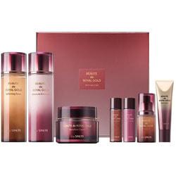 Антивозрастной набор премиум класса с золотом муцином улитки и женьшенем Beaute De Royal Gold Skin Care 3 Set The Saem
