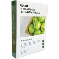Вечерняя восстанавливающая отшелушивающая маска Healing Night Peeling Mask Pack Pekah