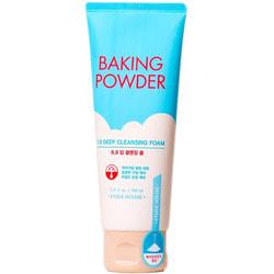 Глубоко очищающая пенка с содой для снятия макияжа и ВВ крема Baking Powder BB Deep Cleansing Foam Etude