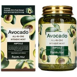 Многофункциональная ампульная сыворотка с экстрактом авокадо Avocado All-In-One Intensive Moist Ampoule FarmStay