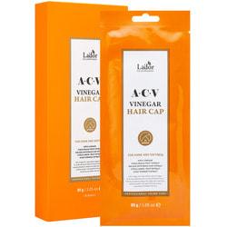 Освежающая маска шапка для поврежденных волос ACV Vinegar Hair Cap Lador