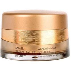 Антивозрастной крем для глаз Snail Essential EX Wrinkle Solution Eye Cream The Saem