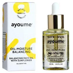 Масло для лица восстанавливающее Balancing Face Oil With Sunflower Ayoume