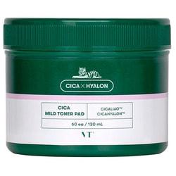 Успокаивающие пады для чувствительной кожи с центеллой Cica Mild Toner Pad VT Cosmetics