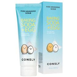 Скраб для лица с содой и яичным белком CONSLY
