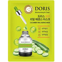 Тканевая маска для лица с экстрактом огурца Cucumber Real Essence Mask Doris